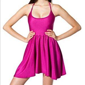 American Apparel Metallic Pink Figure Skater Dress